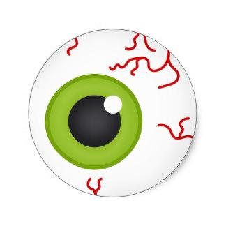 40630f0a80af ... Glasses For Halloween Tutorial. 324x324 Custom Green Eyeball Stickers  Zazzle.ca