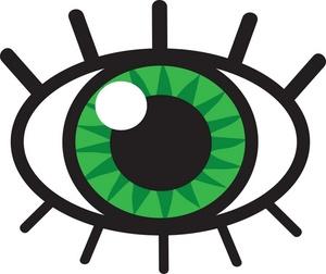 300x252 Eyeball Clipart Image