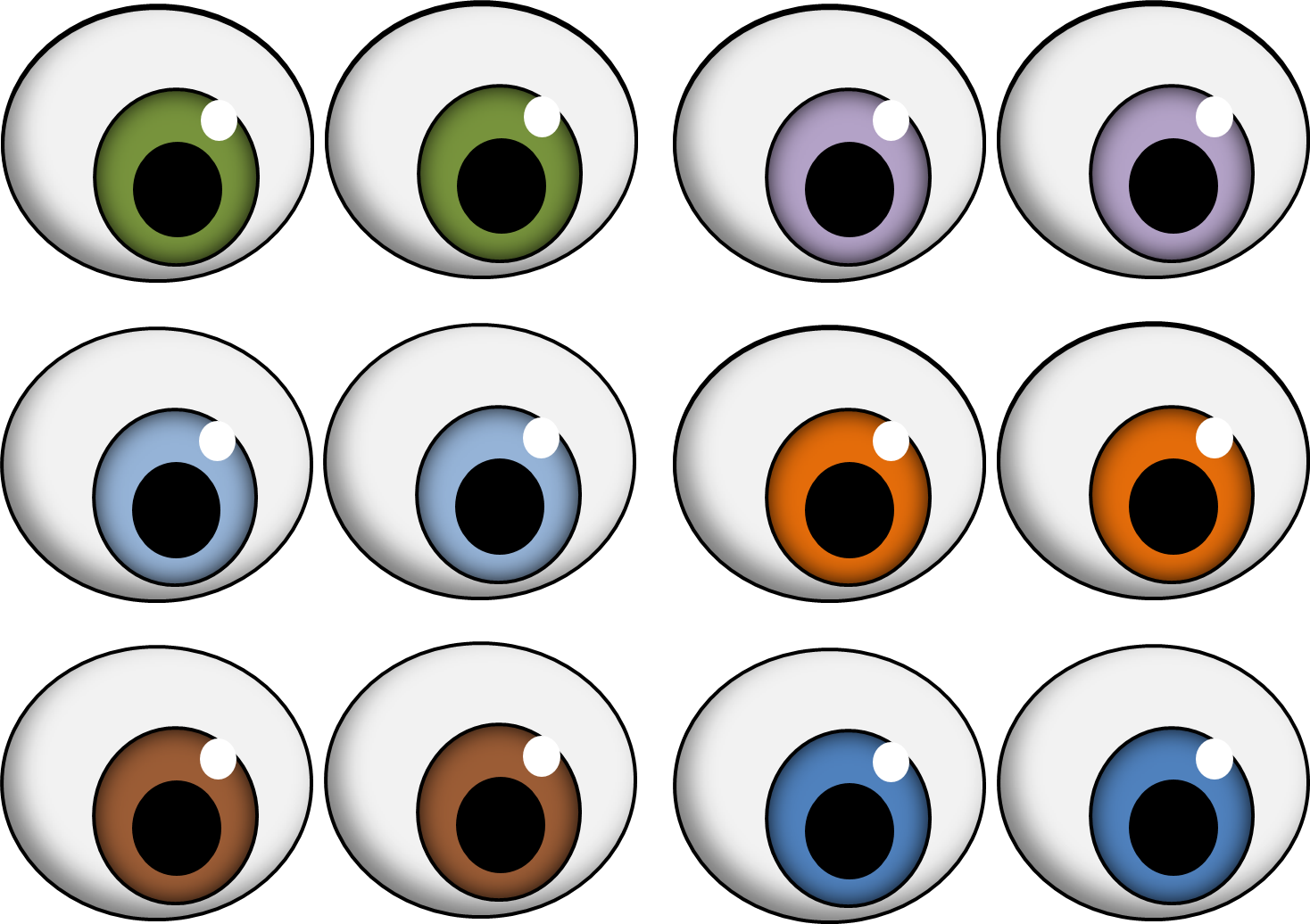 1468x1036 Eyeballs googly eyes clip art clipart 4