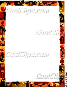 231x300 Halloween Frame Vector Clip Art