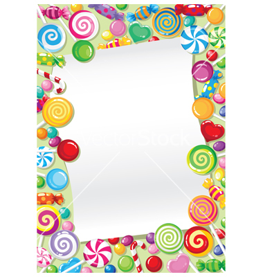 380x400 Candy clipart frame
