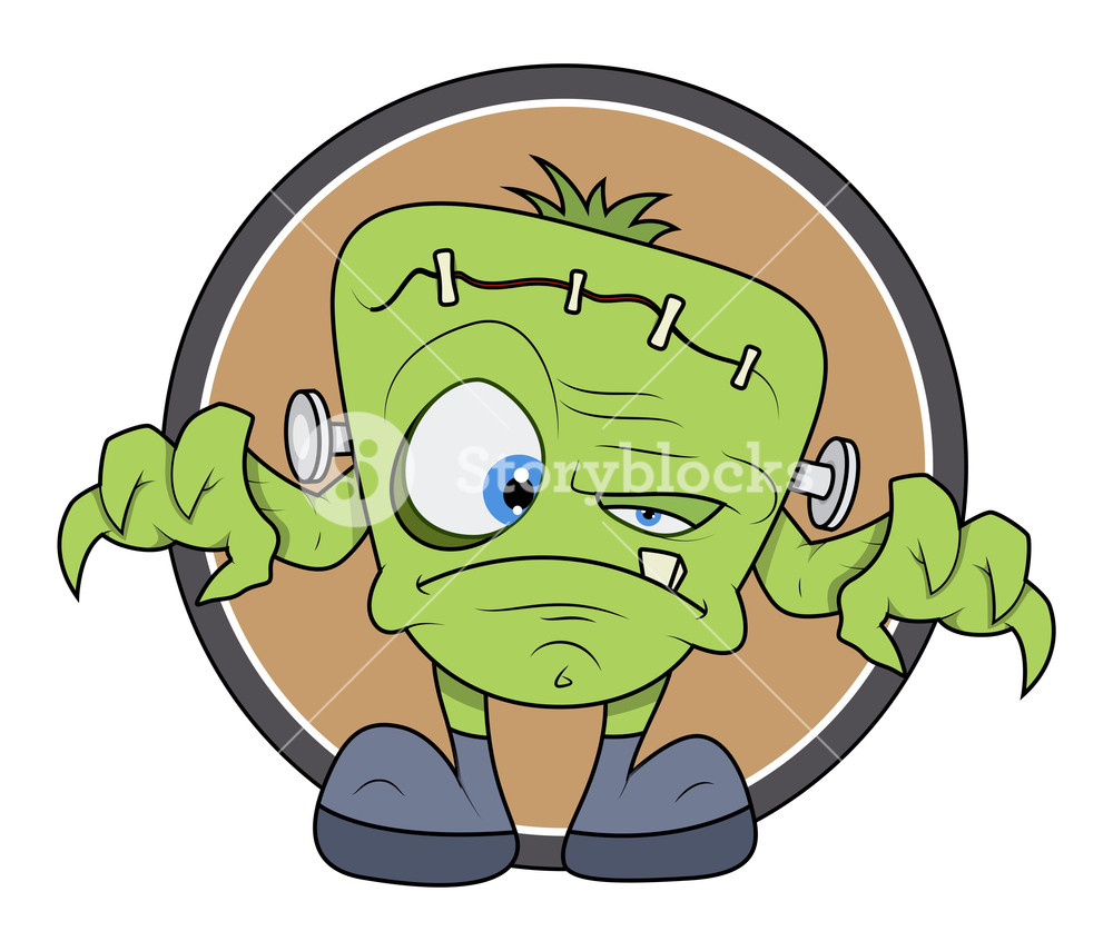 1000x855 Frankenstein Monster Cartoon
