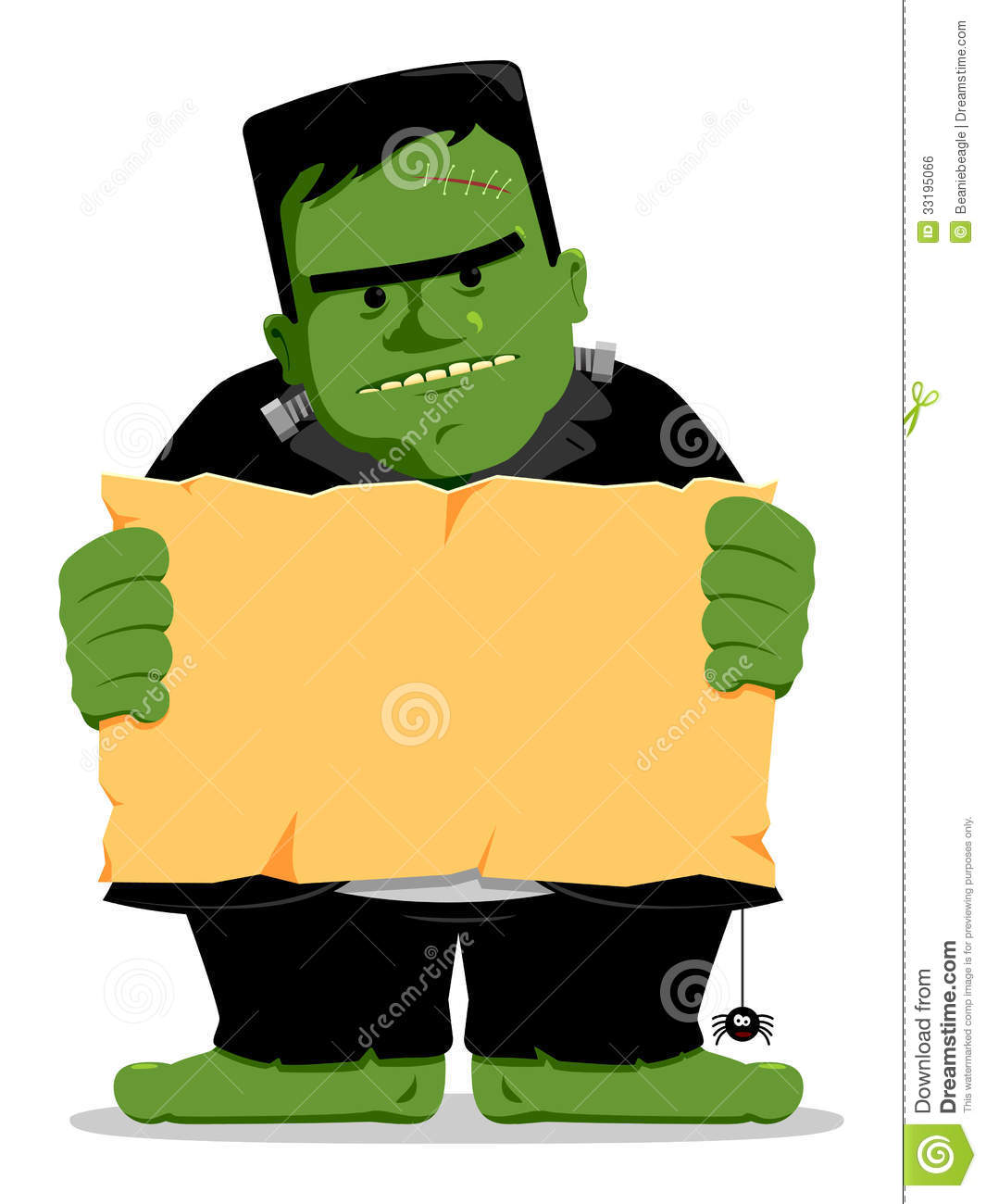 1065x1300 Frankenstein clipart cute halloween