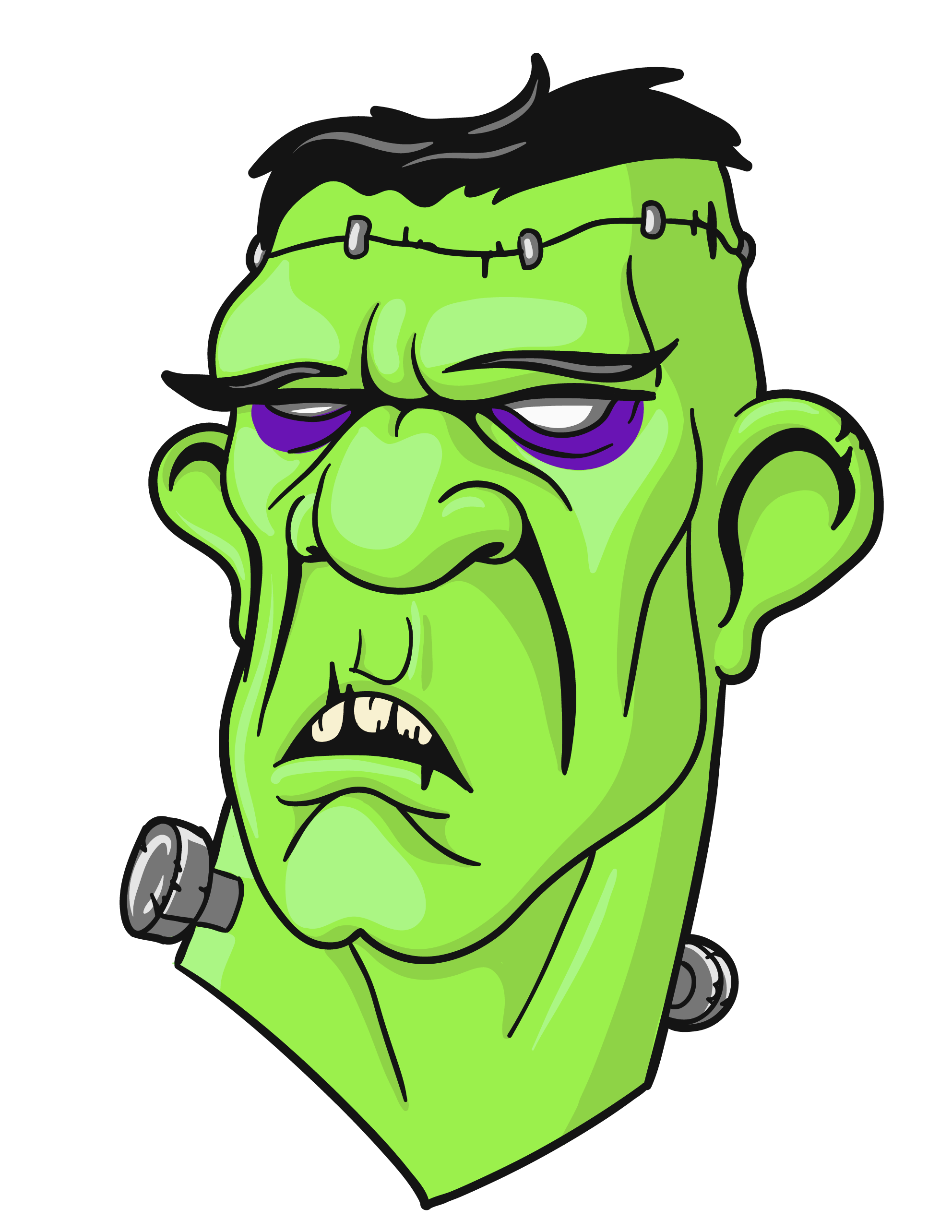 1984x2567 Halloween frankenstein clip art
