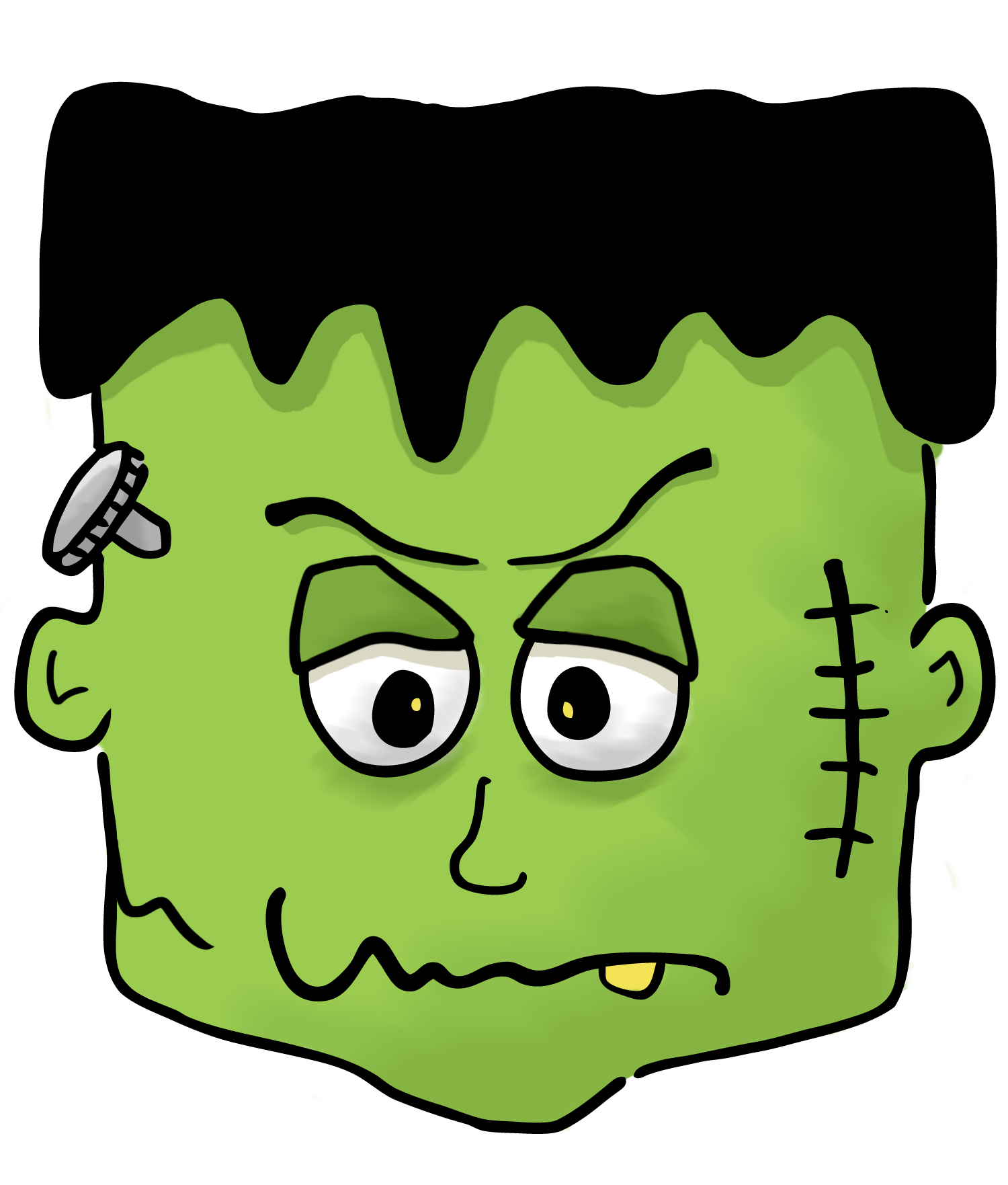 1500x1763 Halloween frankenstein clipart kid