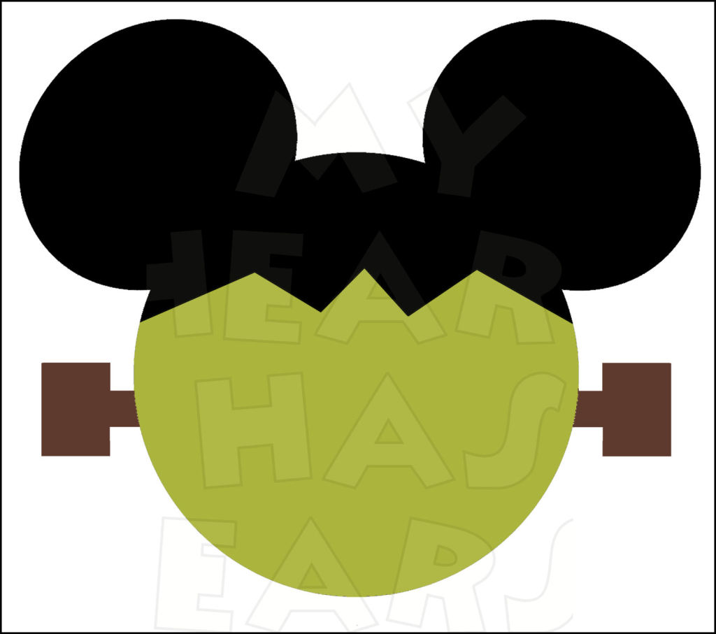 1024x907 Mickey Mouse Frankenstein INSTANT DOWNLOAD Halloween digital clip
