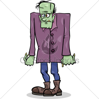 325x325 Cartoon Frankenstein Monster With Green Skin For Halloween · GL