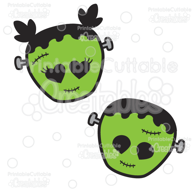 650x650 Cute Frankenstein Halloween SVG Cut Files amp Clipart