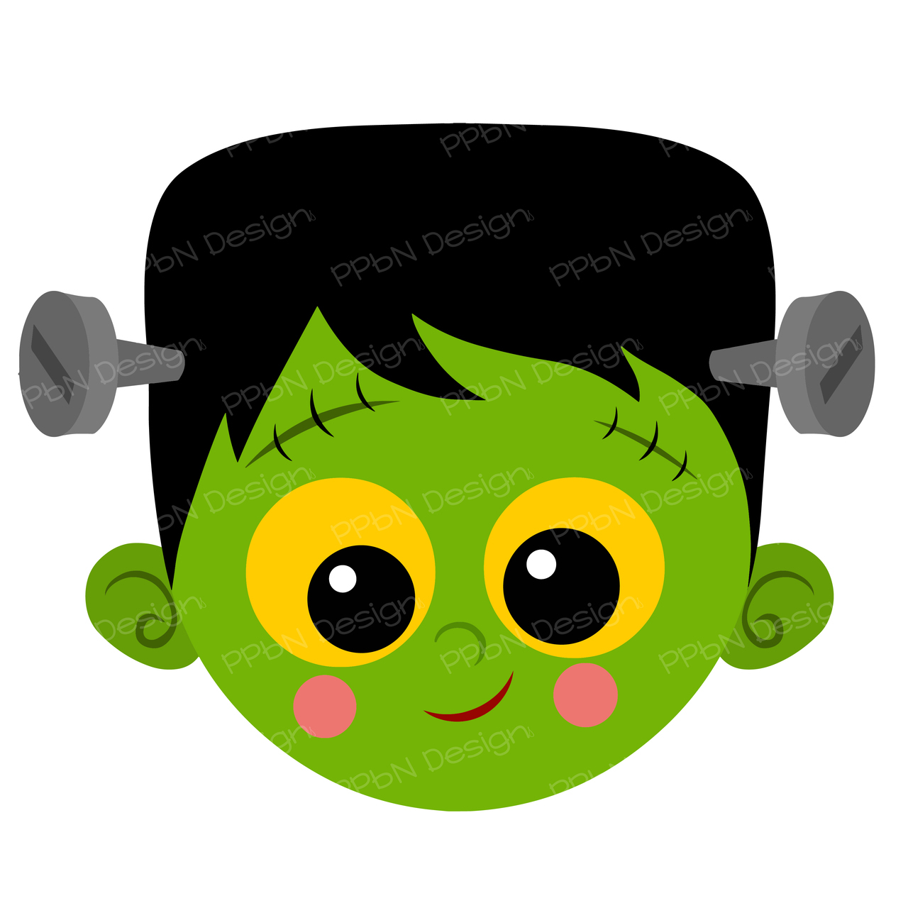 1280x1280 Frankenstein clipart kawaii
