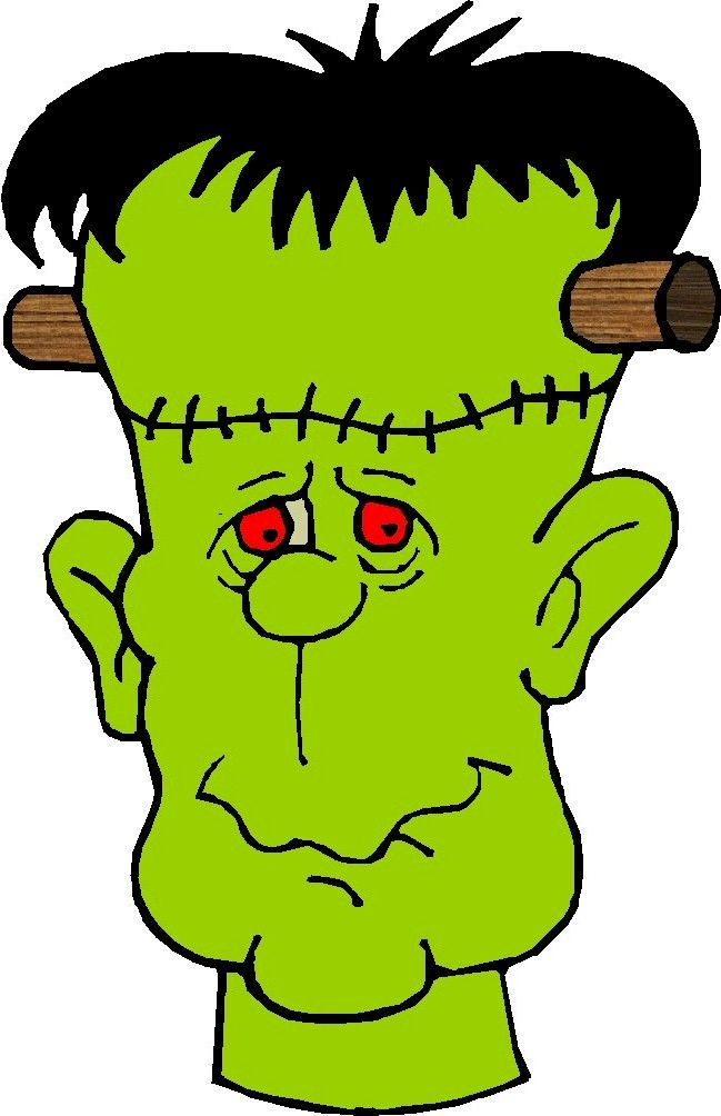 649x1004 Fangs clipart frankenstein