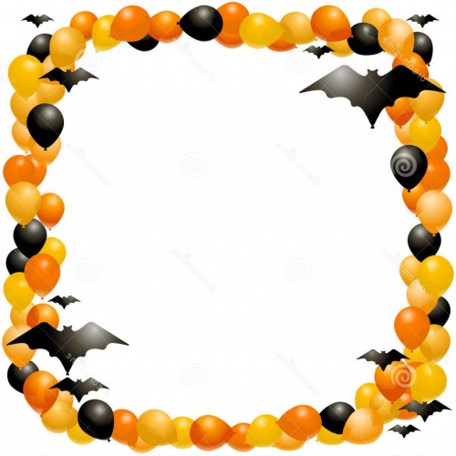500x500 Free Halloween Clip Art Frame Cliparts