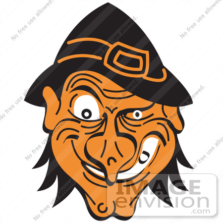 450x450 Royalty Free Cartoon Clip Art Of An Evil Warty Halloween Witch'S