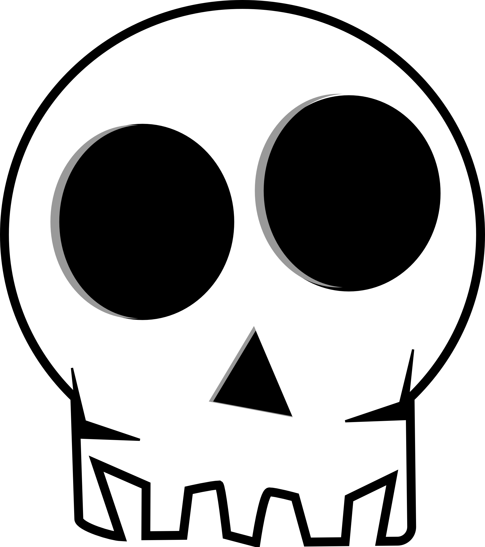 1969x2220 Simple Skeleton Clipart