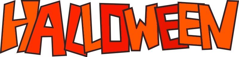 800x192 halloween banner clipart