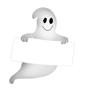 295x320 Ghost clipart paper