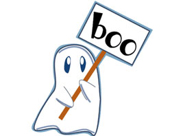 267x198 Ghostly clipart gost