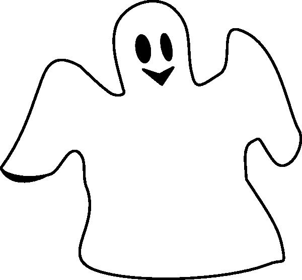600x557 Happy Ghost Clip Art