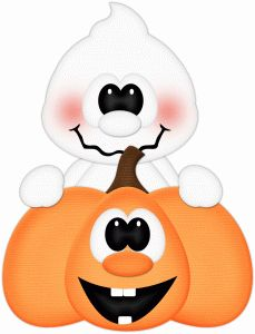 229x300 Pumpkin And Ghost Clipart