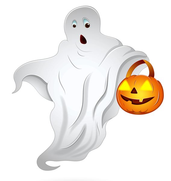 568x600 Ghost Clipart Halloween Decoration