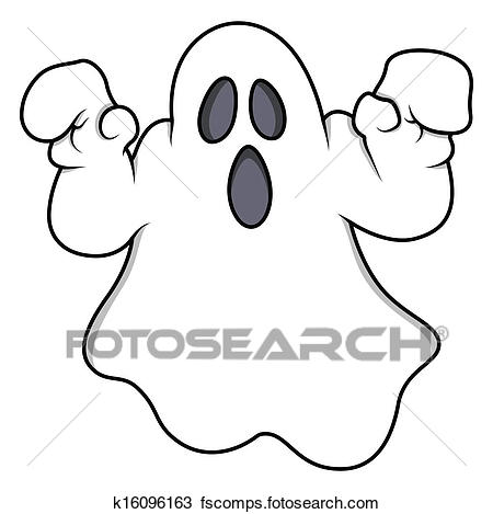 450x469 Clipart Of Spooky Halloween Ghost Vector K16096163