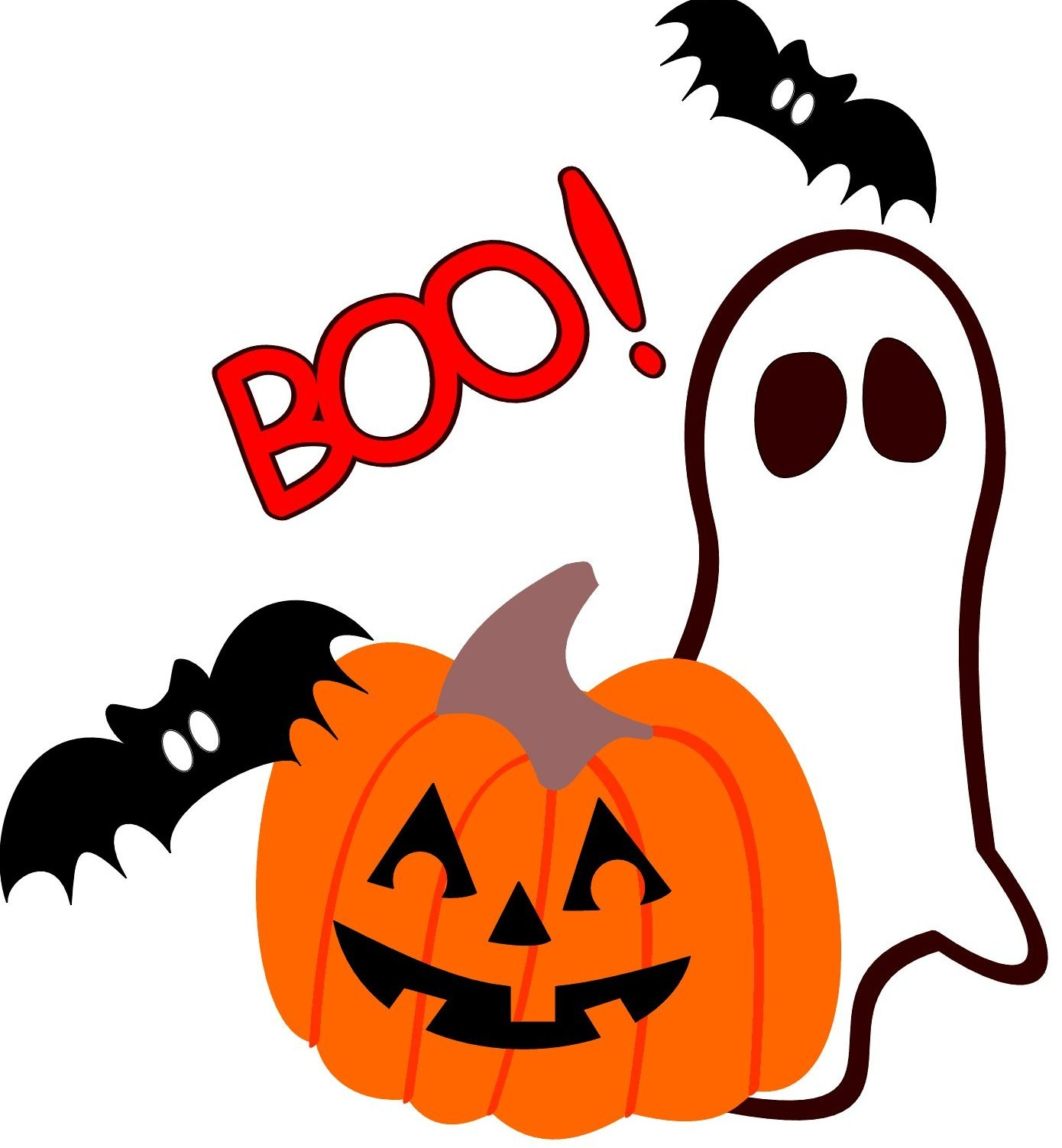 1390x1503 Cute Halloween Ghosts Clipart