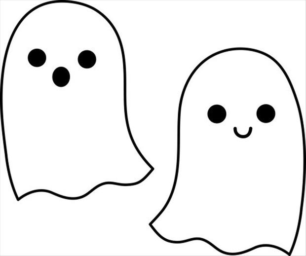 620x519 Halloween Clip Art Black And White Ghost