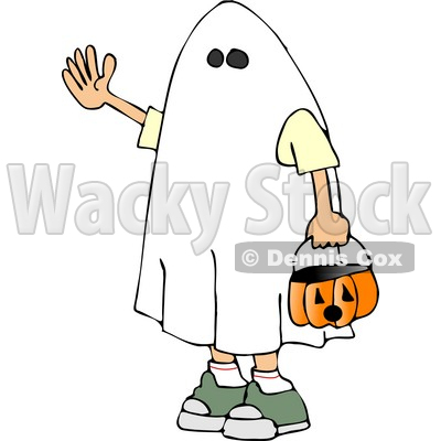 400x400 Wearing Halloween Ghost Costume Clipart Djart