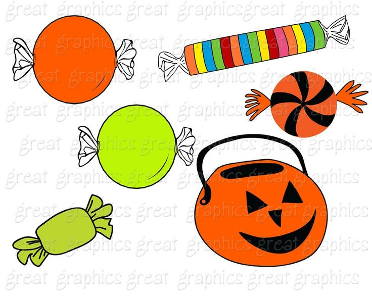 736x588 Halloween Candy Clipart