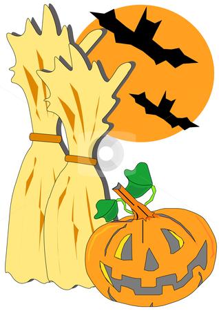 318x450 Halloween Scene Clipart