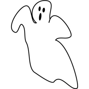 300x300 Ghost clipart black and white