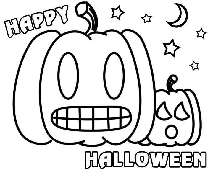 720x576 Halloween Clipart For Coloring