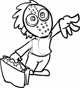 273x300 Halloween Mask Clipart Black And White