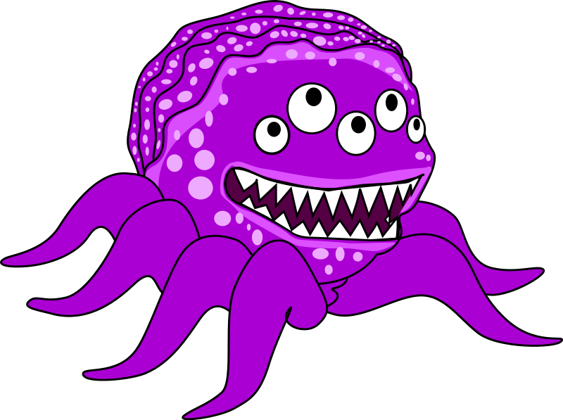 800x597 Happy Monster Clipart Free Images
