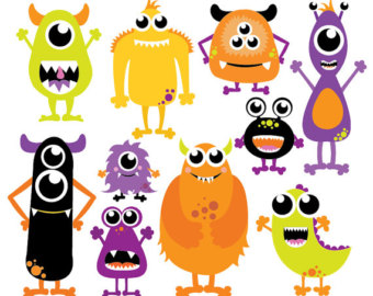 340x270 Little Monster Clipart Monsters Clip Art Monsters Vector