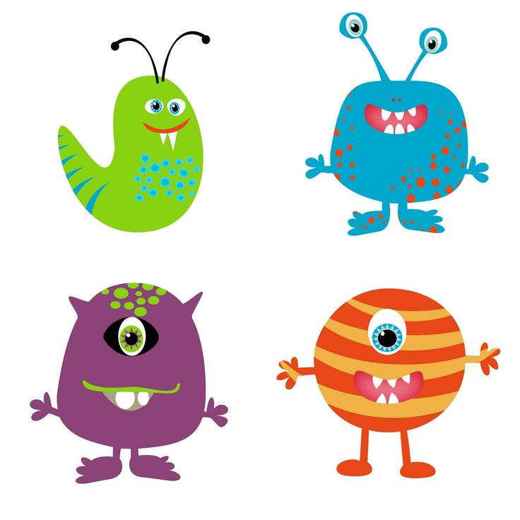 736x736 Monster Clip Art Black And White Free Clipart Images