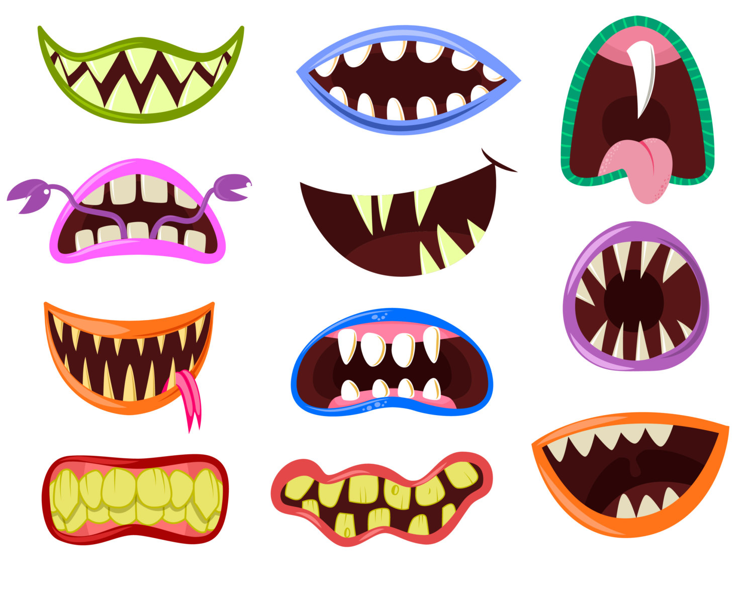 1500x1208 Monster Mouth Clip Art Monster Clipart Halloween Clipart