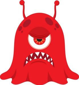 278x300 Spooky Clipart Halloween Monster