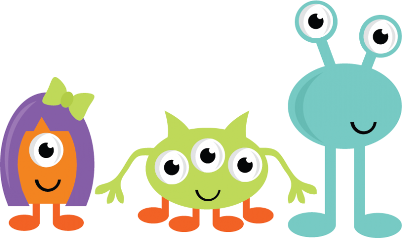 800x473 Cute Halloween Monster Clipart