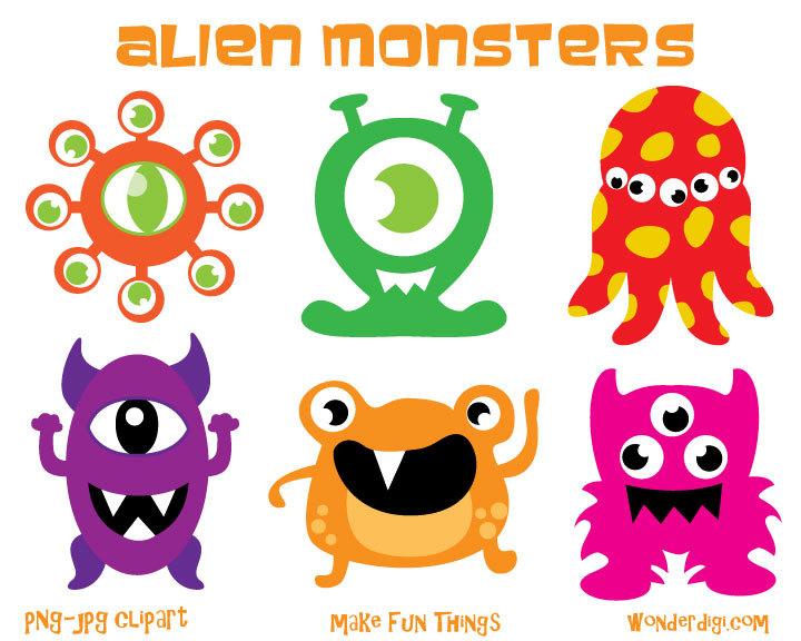 720x576 Monsters Clipart Aliens Clip Art Kids Party Clipart