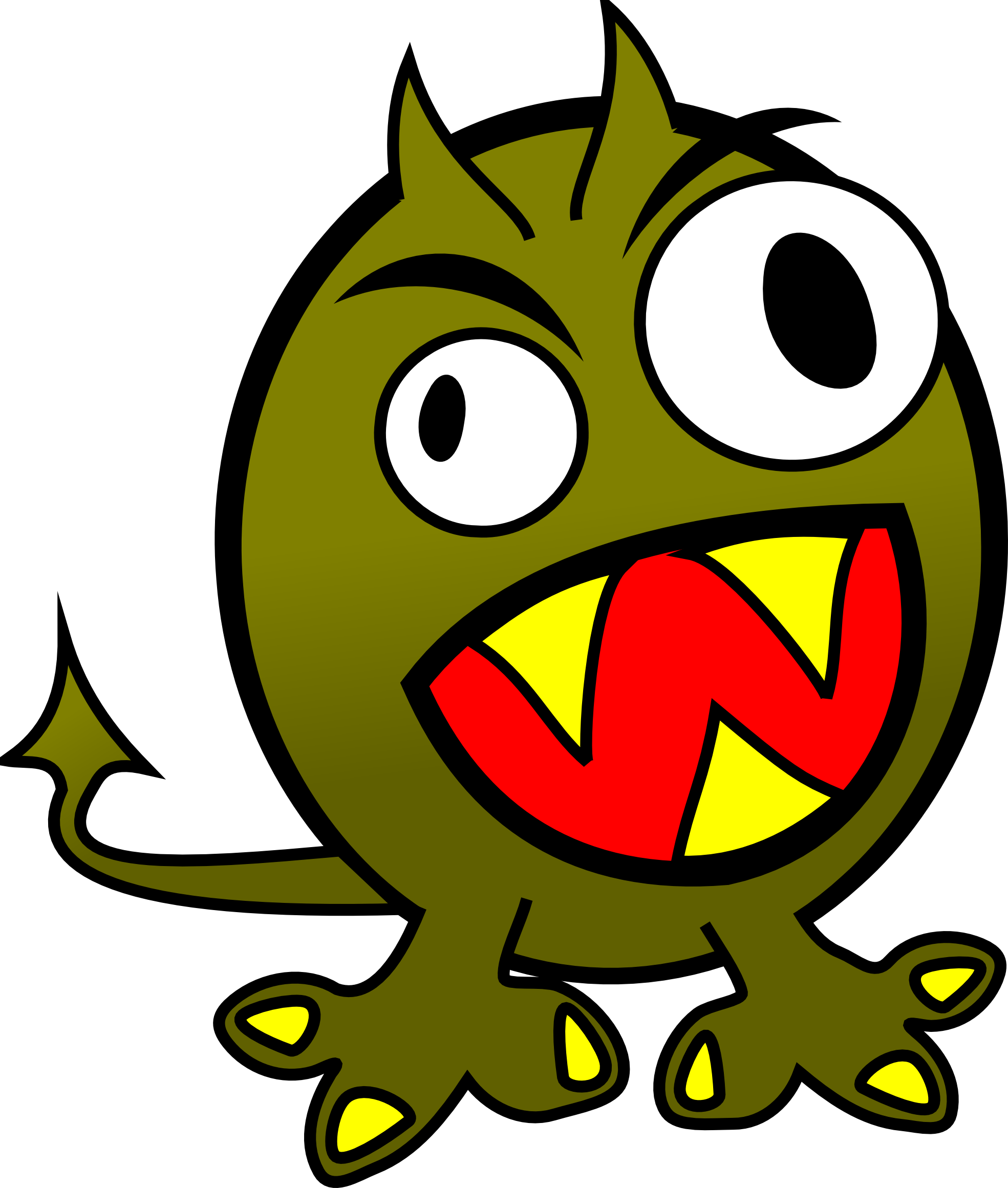 1969x2321 Clip Art Molumen Small Funny Angry Monster