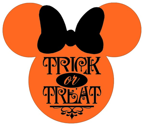 599x525 Personalized Trick Or Treat Halloween Minnie Or Mickey Mouse Diy