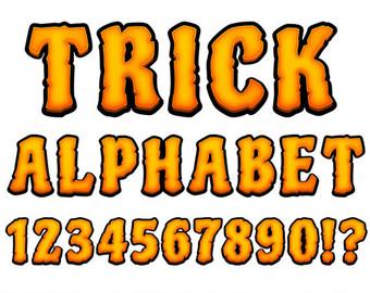 340x270 Halloween Alphabet Clipart Bones Letters Clipart Halloween