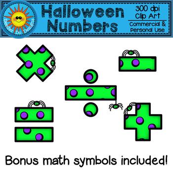 350x350 Halloween Numbers Clip Art By Deeder Do Teachers Pay Teachers