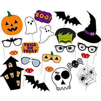 350x350 Kuuqa 38 Pack Halloween Photo Booth Props Kit