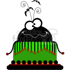 300x300 Royalty Free Halloween Party Cake 387353 Vector Clip Art Image