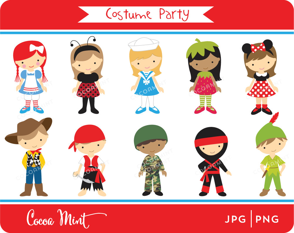 1001x795 Costume Party Clip Art