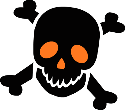 400x350 Bones Clipart Halloween Skeleton