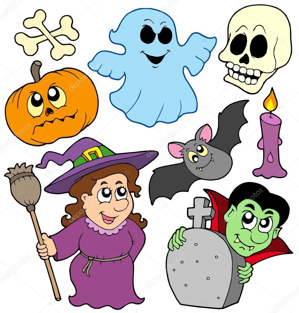 976x1023 Halloween Cartoons Collection Stock Vector Clairev