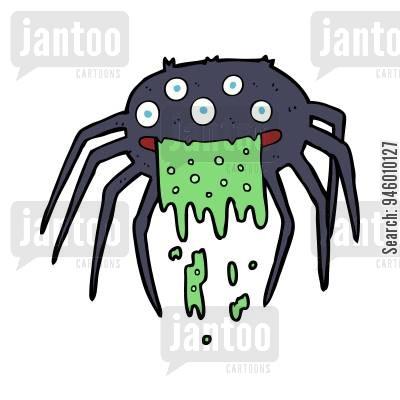 400x400 Arachnophobic Cartoons