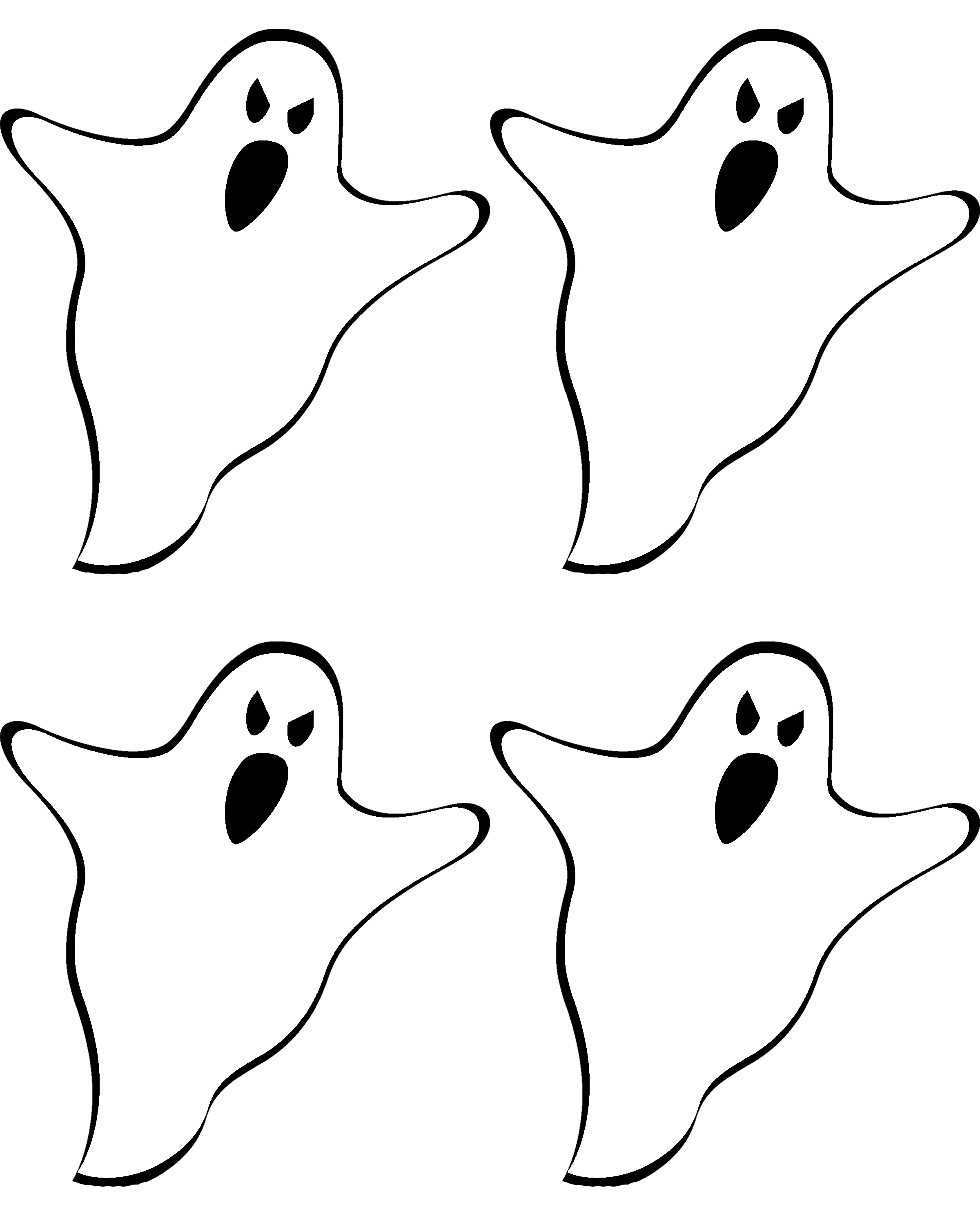 2400x3000 Free Printable Ghost Banner